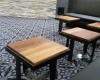 Shape Street Rustic Modern End Tables