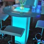 Shape Street Illuminated Bar Top Table