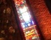 Custom faux stained glass wall panel made of acrylic